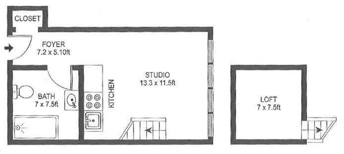 140 West 69th Street 76C, Upper West Side, NYC, $1,450, Web #: 20511139