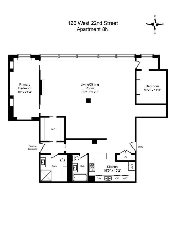126 West 22nd Street 8N, Chelsea, NYC, $3,250,000, Web #: 20519290