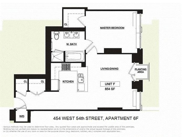 454 West 54th Street 6F, Midtown West, NYC, $945,000, Web #: 20523580