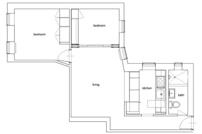92 Perry Street 12A, West Village, NYC, $4,595, Web #: 20525931