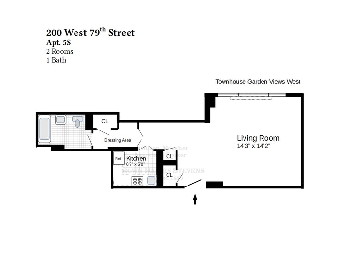 200 West 79th Street 5S, Upper West Side, NYC, $375,000, Web #: 20526000