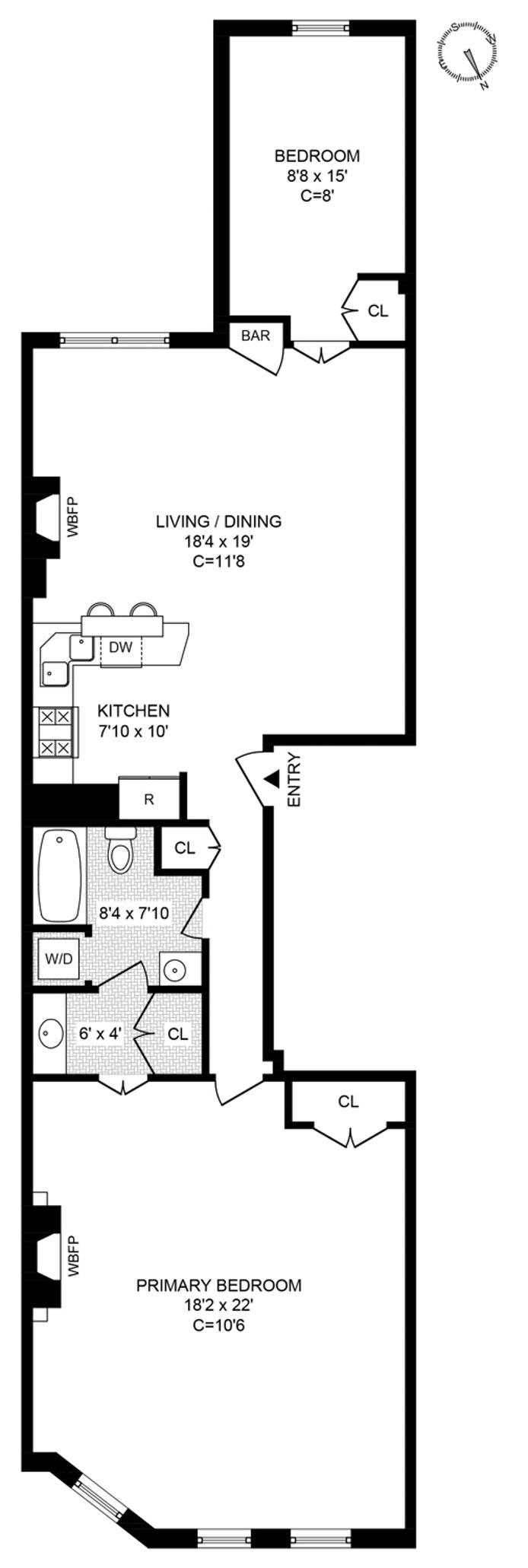 252 West 102nd Street 3, Upper West Side, NYC, $950,000, Web #: 20550195