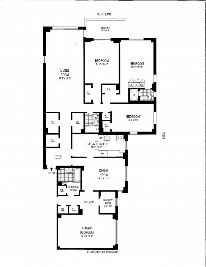 3725 Henry Hudson Pkwy W 4Ef, Riverdale, New York, $879,000, Web #: 20560136