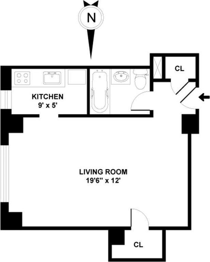 304 West 75th Street 7C, Upper West Side, NYC, $345,000, Web #: 20560603