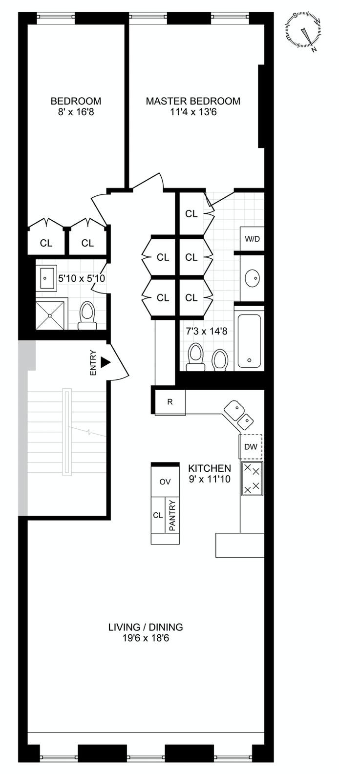 456 West 49th Street 2, Midtown West, NYC, $3,900, Web #: 20563645