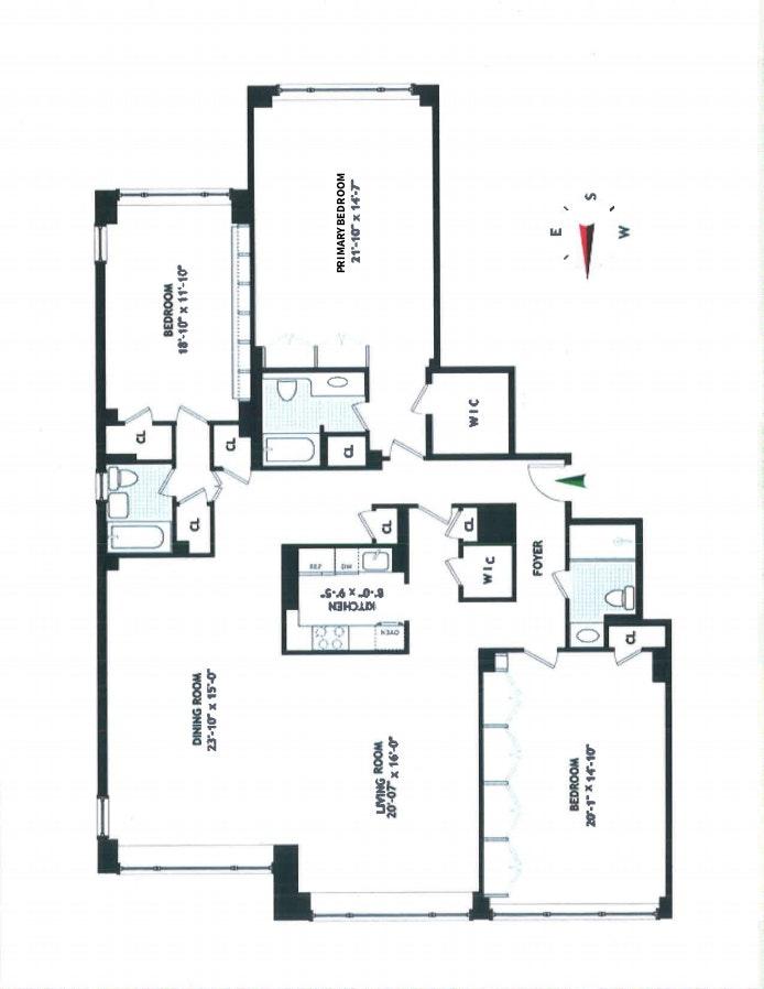 110 East 57th Street 8Efg, Midtown East, NYC, $2,095,000, Web #: 20565184