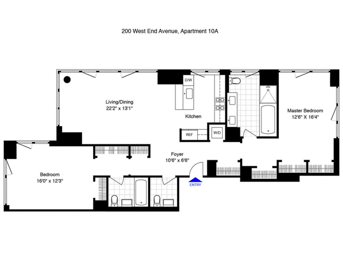 200 West End Avenue 10A, Upper West Side, NYC, $6,500, Web #: 20570154