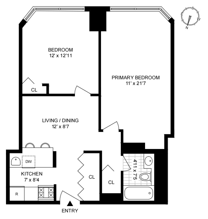 630 First Avenue 27F, Midtown East, NYC, $3,200, Web #: 20570155