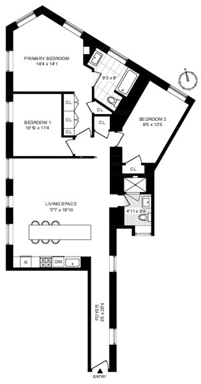 66 Saint Nicholas Avenue 2A, Harlem, NYC, $1,125,000, Web #: 20571511