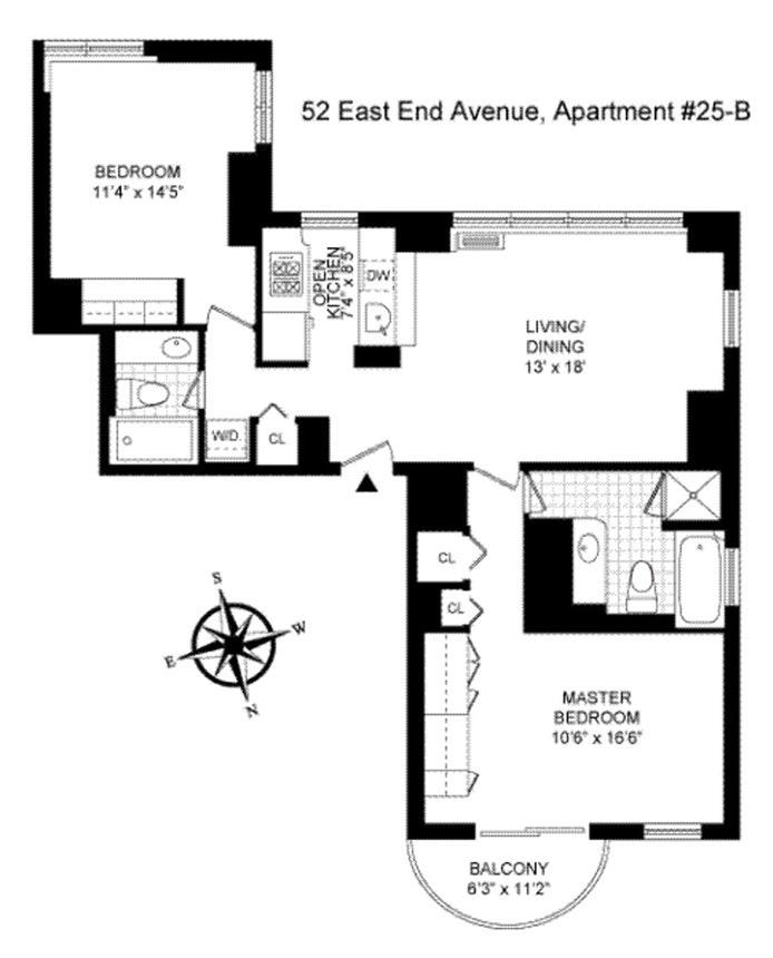 52 East End Avenue 25B, Upper East Side, NYC, $5,000, Web #: 20588781