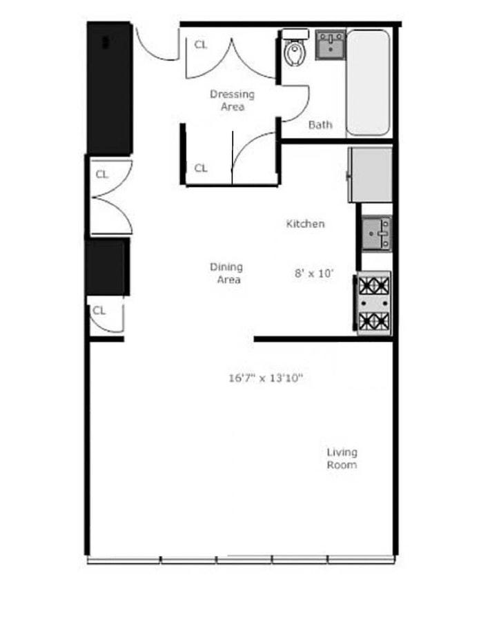 343 East 30th Street 6H, Murray Hill Kips Bay, NYC, $1,850, Web #: 20589636