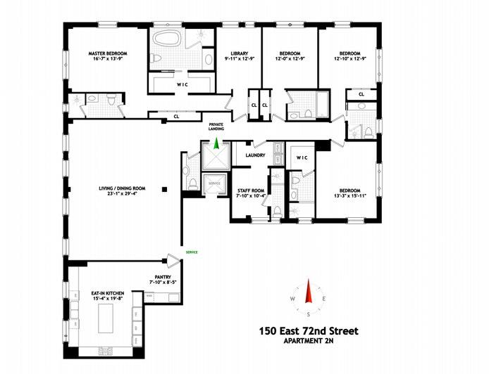150 East 72nd Street 2N, Upper East Side, NYC, $6,990,000, Web #: 20600086