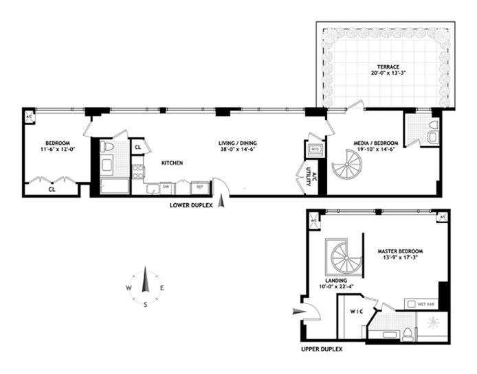 540 West 28th Street Phd, Chelsea, NYC, $3,495,000, Web #: 20600486