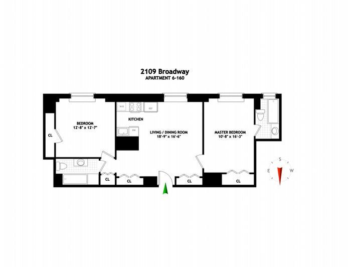 2109 Broadway 6/160, Upper West Side, NYC, $1,200,000, Web #: 20621764