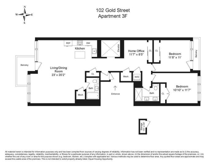 102 Gold Street 3F, Brooklyn, New York, $1,695,000, Web #: 20640636