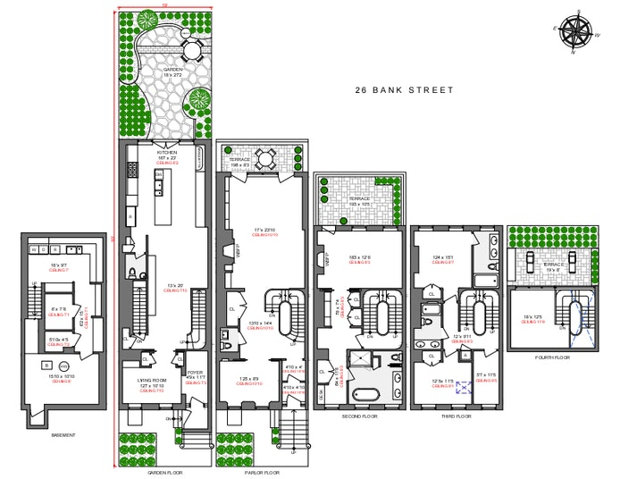 26 Bank Street, West Village, NYC, $19,995,000, Web #: 20661129