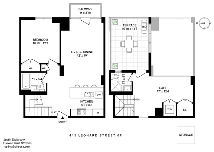 415 Leonard Street 6F, Brooklyn, New York, $4,950, Web #: 20661411