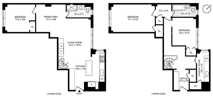 319 East 50th Street 7A/8A, Midtown East, NYC, $1,250,000, Web #: 20664058
