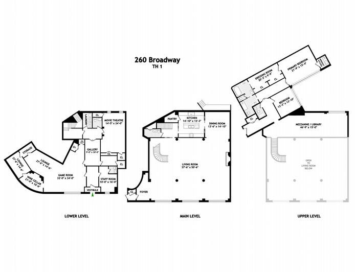 260 West Broadway 1/2C, Tribeca, NYC, $7,995,000, Web #: 20664096