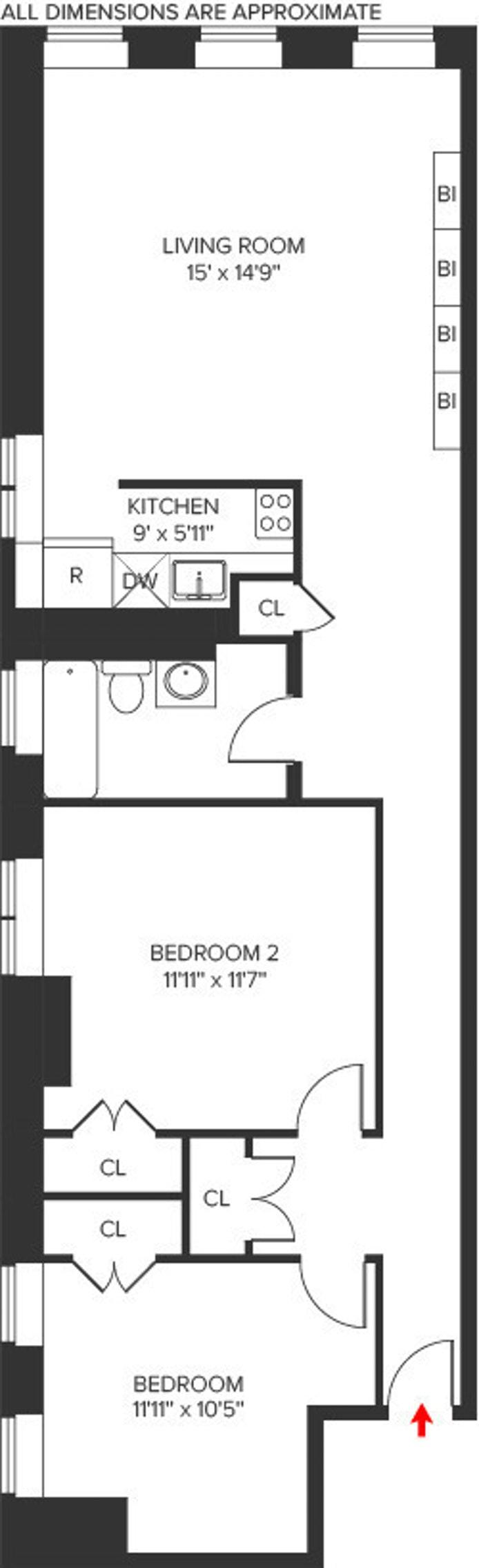 178 East 2nd Street 4A, East Village, NYC, $1,100,000, Web #: 20675650