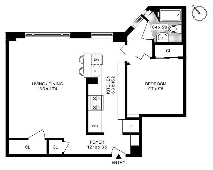 545 West 111th Street 6N, Morningside Heights, NYC, $630,000, Web #: 20682900