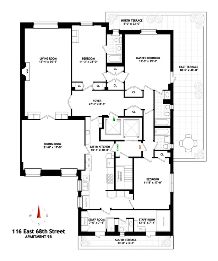 116 East 68th Street Ph9b, Upper East Side, NYC, $3,725,000, Web #: 20685692
