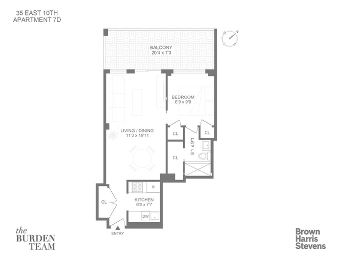 35 East Tenth Street 7D, Union Square, NYC, $1,175,000, Web #: 20685886