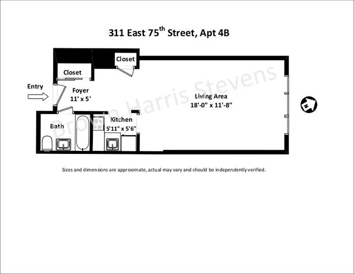 311 East 75th Street 4B, Upper East Side, NYC, $300,000, Web #: 20691520