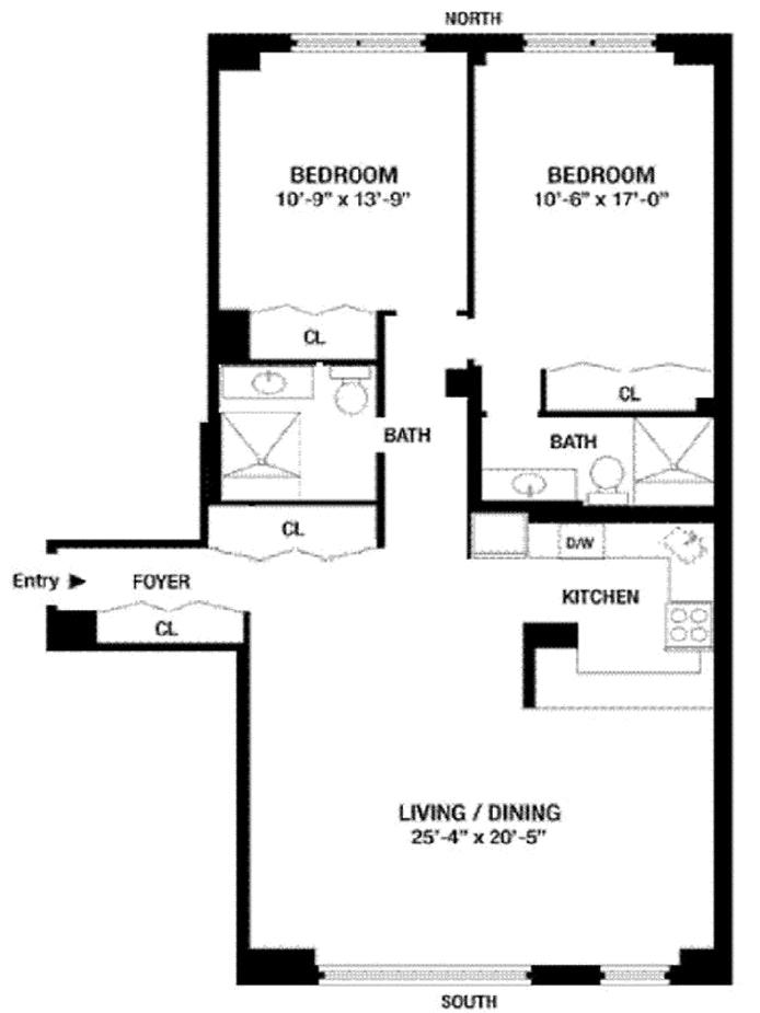 333 East 34th Street 15D, Midtown East, NYC, $1,259,000, Web #: 20693853