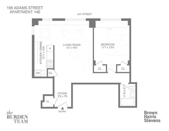 195 Adams Street 14E, Brooklyn Heights, New York, $629,000, Web #: 20698238