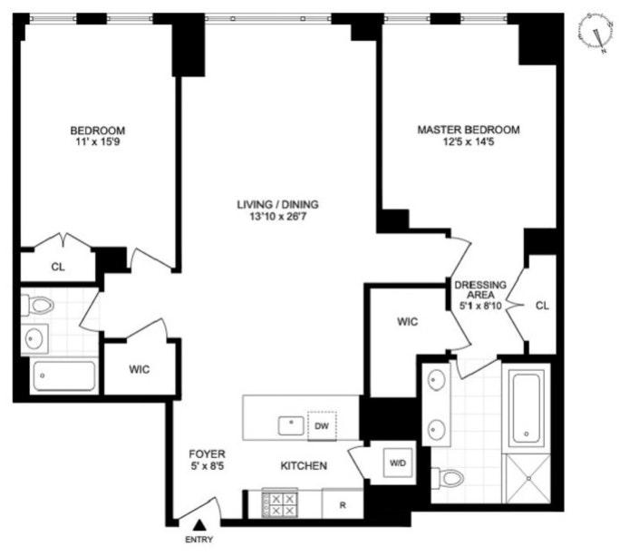 205 West 76th Street 501, Upper West Side, NYC, $2,625,000, Web #: 20698537