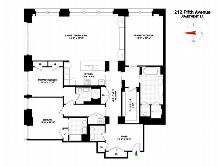 212 Fifth Avenue 8A, Flatiron, NYC, $10,900,000, Web #: 20710206