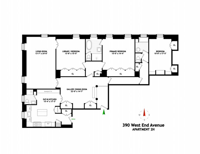390 West End Avenue 2H, Upper West Side, NYC, $6,250,000, Web #: 20710249