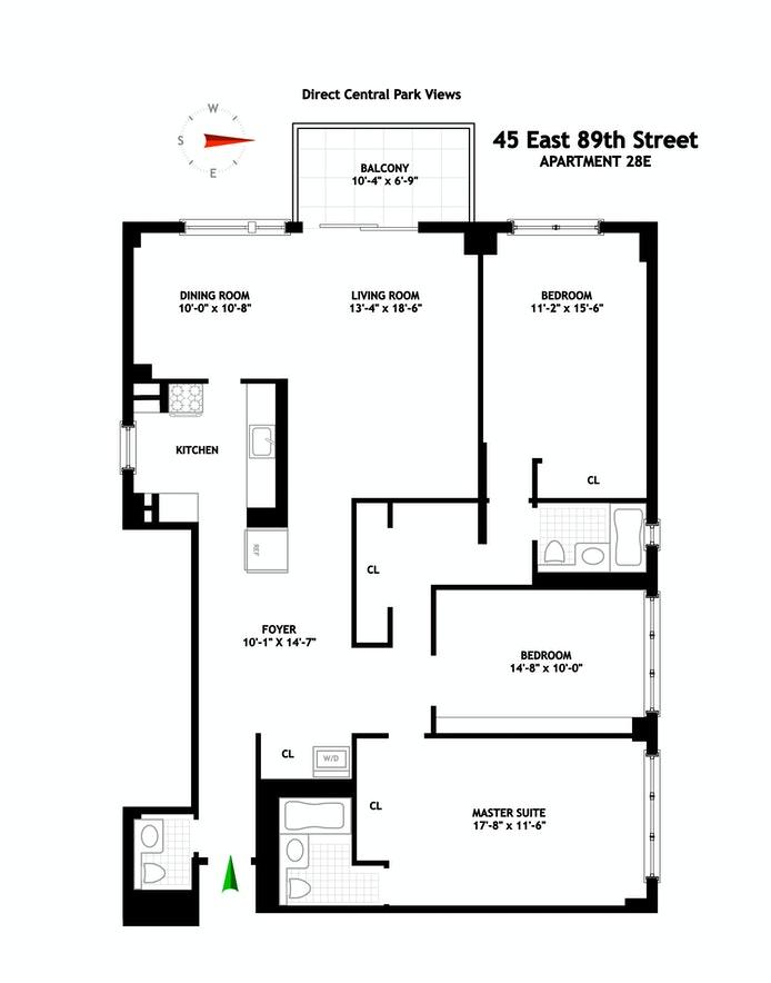 45 East 89th Street 28E, Upper East Side, NYC, $10,800, Web #: 20716197