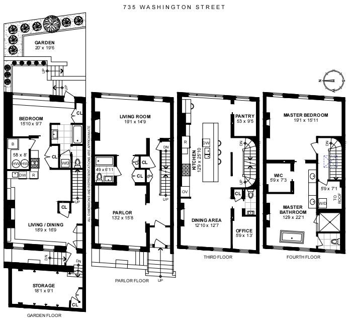 735 Washington Street, West Village, NYC, $8,500,000, Web #: 20720464
