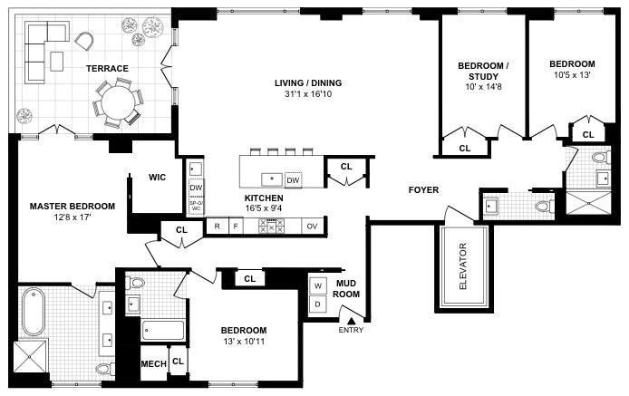 250 West 81st Street 12B, Upper West Side, NYC, $7,450,000, Web #: 20738967