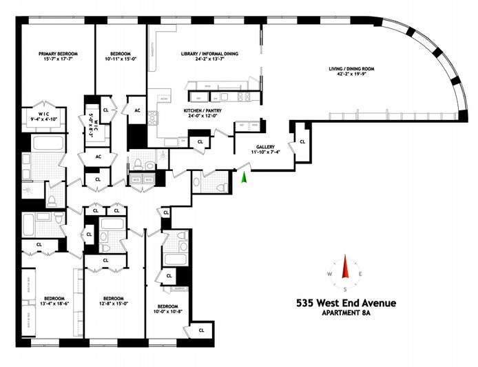 535 West End Avenue 8A, Upper West Side, NYC, $11,900,000, Web #: 20743080