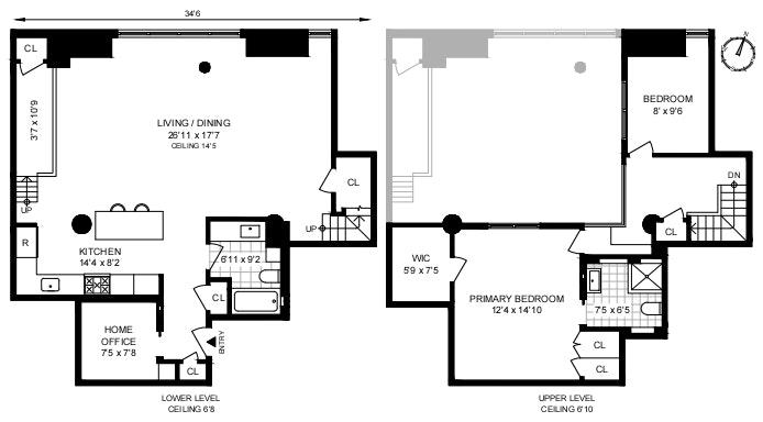 720 Greenwich Street 1J, West Village, NYC, $2,525,000, Web #: 20743334