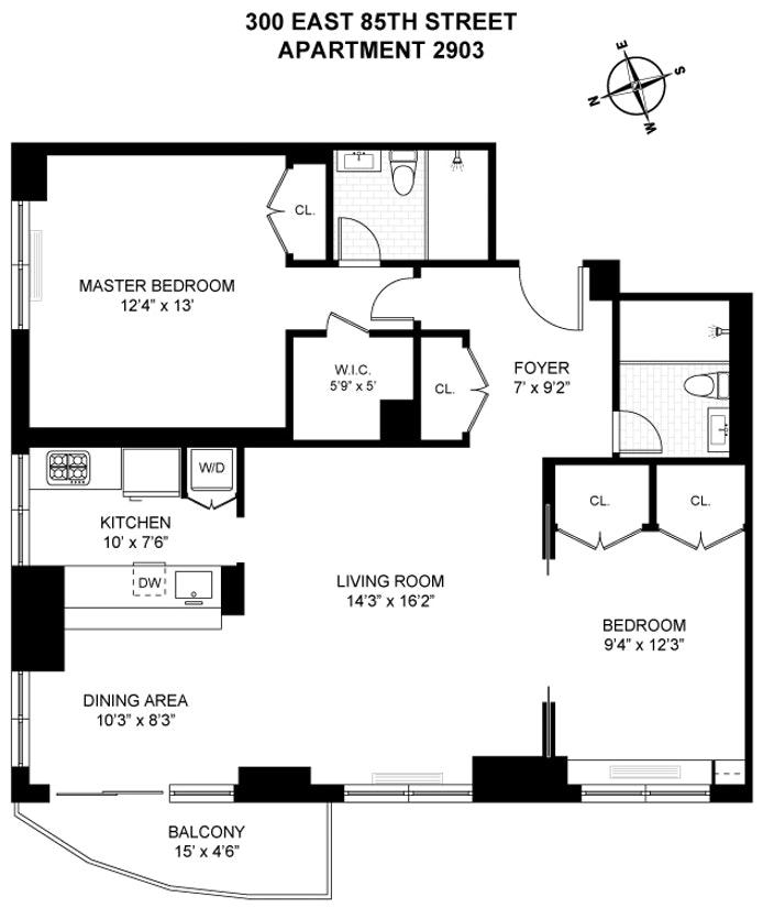 300 East 85th Street 2903, Upper East Side, NYC, $1,750,000, Web #: 20750699