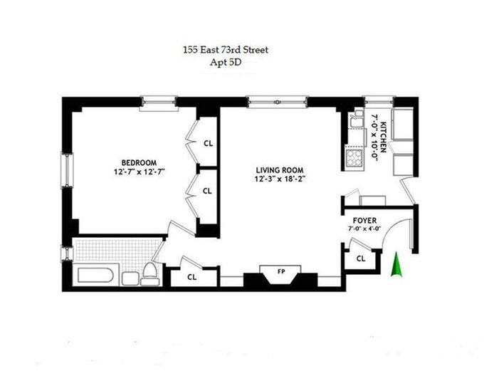 155 East 73 Street 5D, Upper East Side, NYC, $650,000, Web #: 20757062