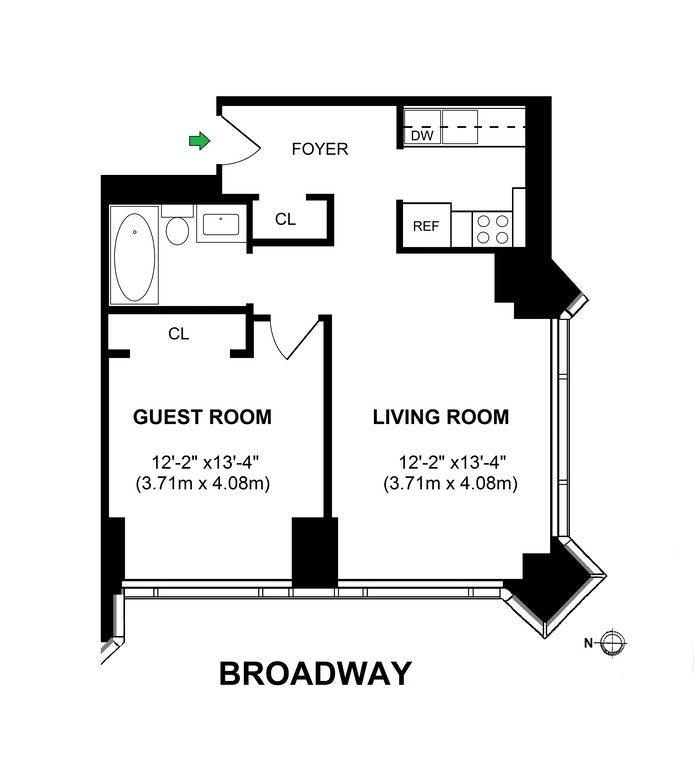 1 Central Park West 1714, Upper West Side, NYC, $895,000, Web #: 20767062