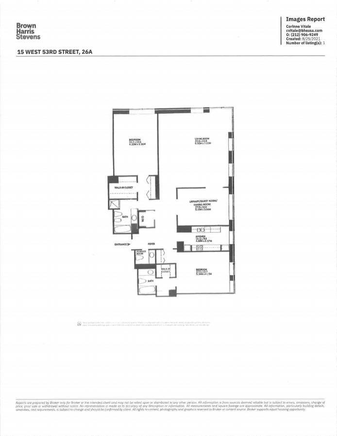 15 West 53rd Street 26A, Midtown West, NYC, $10,500, Web #: 20767072