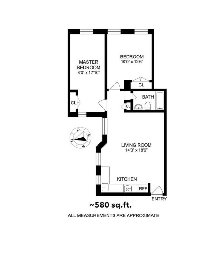 601 West 138th Street 6C, Hamilton Heights, NYC, $325,000, Web #: 20767276