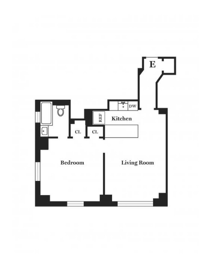 440 West 34th Street 9E, Midtown West, NYC, $2,500, Web #: 20773599