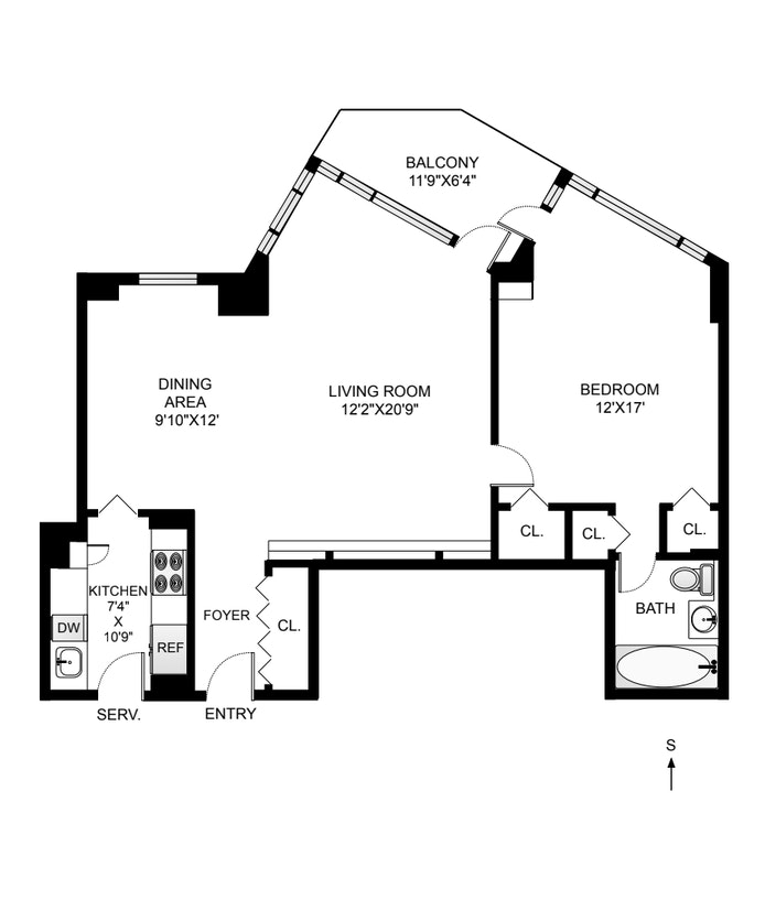 60 Sutton Place South 3As, Midtown East, NYC, $725,000, Web #: 20777728