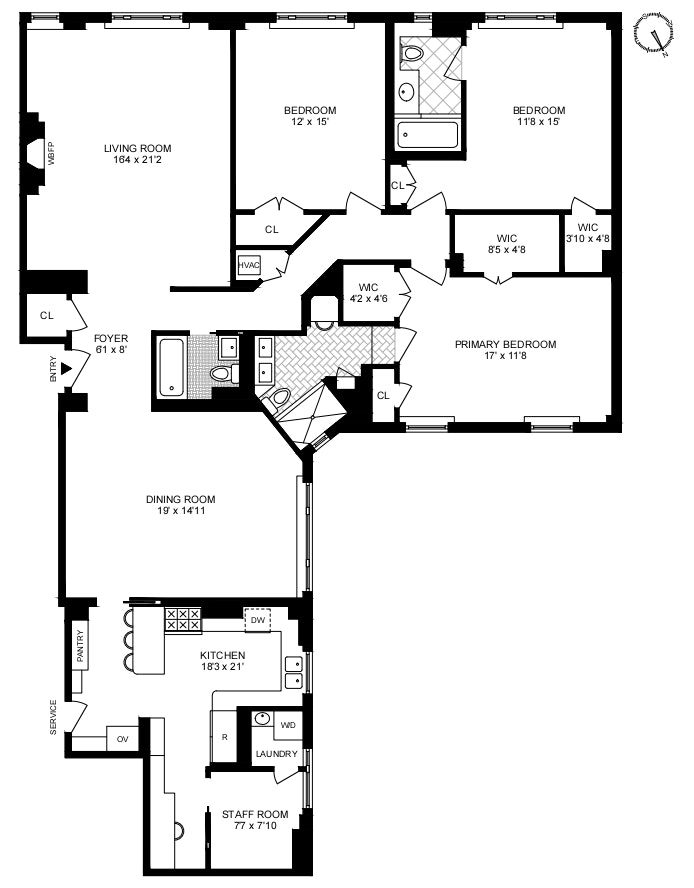103 East 75th Street 2Fw, Upper East Side, NYC, $3,500,000, Web #: 20780337
