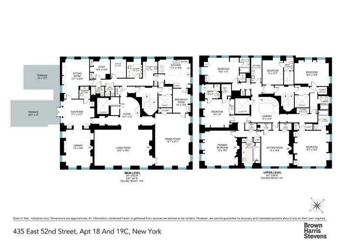 435 East 52nd Street 18/19C, Midtown East, NYC, $20,000,000, Web #: 20782533
