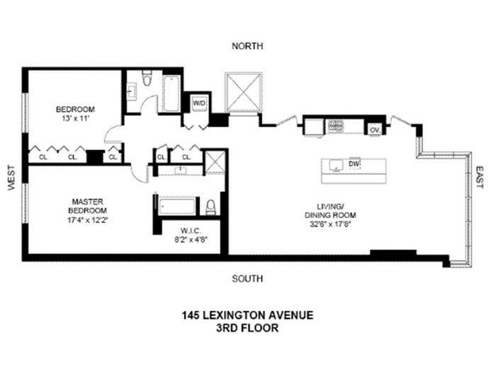 145 Lexington Avenue 3, Murray Hill Kips Bay, NYC, $6,400, Web #: 20782855