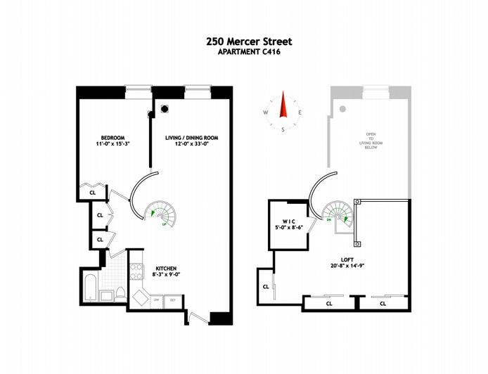 250 Mercer Street C416, Greenwich Village, NYC, $1,198,000, Web #: 20783991