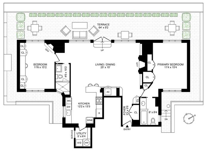 71 Park Avenue Pha, Midtown East, NYC, $2,250,000, Web #: 20785476